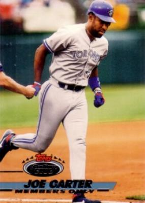 Joe Carter 1993 Stadium Club Members Only card