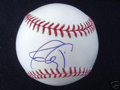 Javy Lopez autographed NL baseball