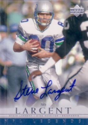Steve Largent certified autograph Seattle Seahawks 2000 Upper Deck Legends card