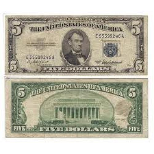 Banknotes; United States of America - 5 Dollars 1953