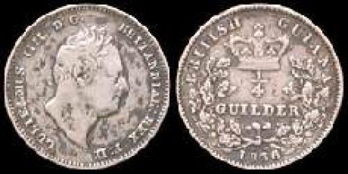 0,25 guilder 1836 (km 23)