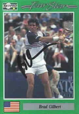 Brad Gilbert autographed 1991 Netpro tennis card