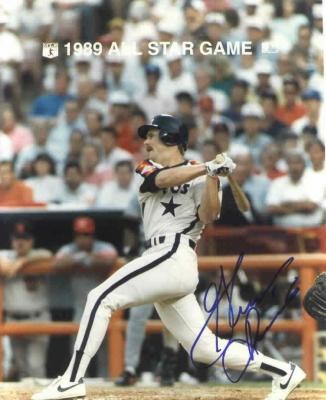 Glenn Davis autographed 8x10 Houston Astros photo
