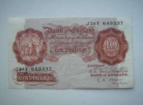 England 10 shillings 1955-60