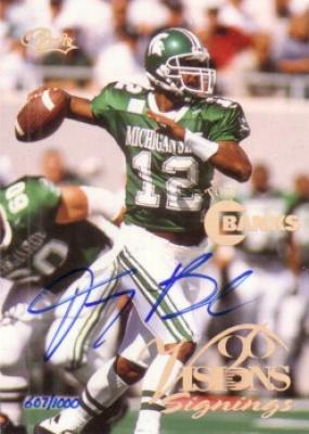 Tony Banks certified autograph Michigan State Spartans card
