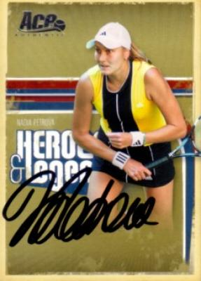 Nadia Petrova autographed 2006 Ace Authentic tennis card