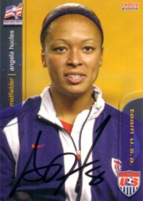 Angela Hucles autographed 2004 U.S. Soccer card