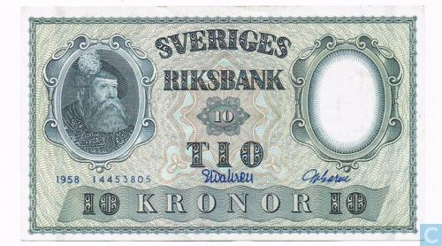 Sweden 10 kronor 1959