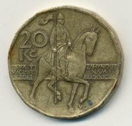 Coins;  Czech Republic 20 Korun Coin