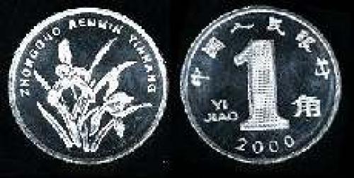 1 jiao; Year: 1999; (km y#1068)