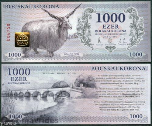 Hungary / Hajdunanas - 1000 Bocskai Crown 2012 Unc, sheep, Fantasy Note
