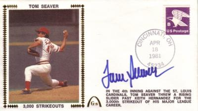 Tom Seaver autographed 3000th Strikeout Gateway cachet