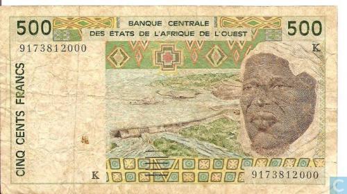 West Afr Stat. 500 Francs K