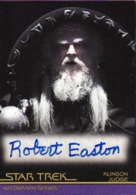 Robert Easton Star Trek certified autograph card