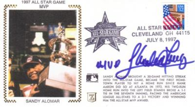Sandy Alomar Jr. (Indians) autographed 1997 MLB All-Star Game cachet envelope