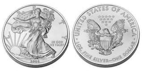 Coins; Silver American Eagle Bullion Coins