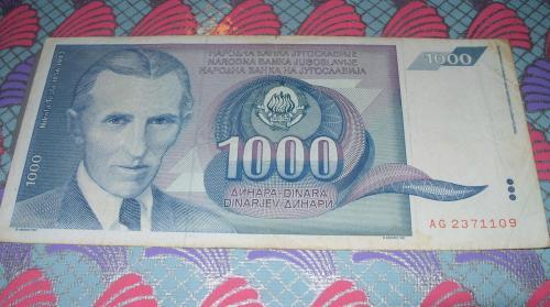 Yugoslavia 3X 1000 DINARA 1990/1991/1993 3 pcs banknotes