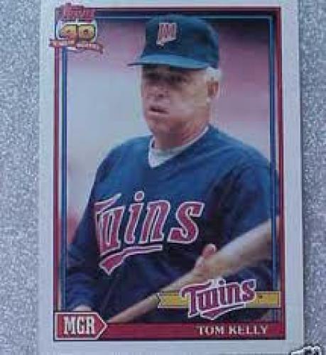 Baseball Card; 1991 Topps Tom Kelly Twins MGR Baseball Card