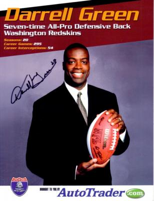 Darrell Green (Redskins) autographed promotional photo