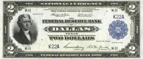 Banknotes; US $2 1918 Federal Reserve Bank Note