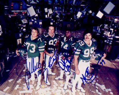 Mark Gastineau Joe Klecko Marty Lyons Abdul Salaam autographed New York Sack Exchange 8x10 photo