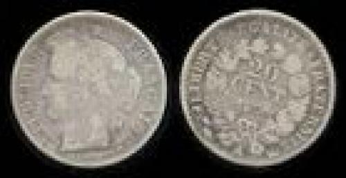 20 centimes; Year: 1849-1850; (km 758)