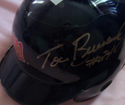 Tom Brunansky autographed Minnesota Twins mini helmet