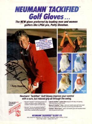 Patty Sheehan (LPGA) autographed full page golf magazine ad