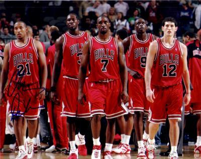 Chris Duhon autographed 8x10 Chicago Bulls photo