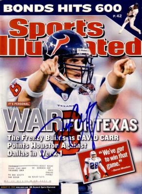 David Carr autographed Houston Texans 2002 Sports Illustrated