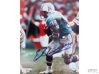Earl Campbell autographed 8x10 Houston Oilers photo