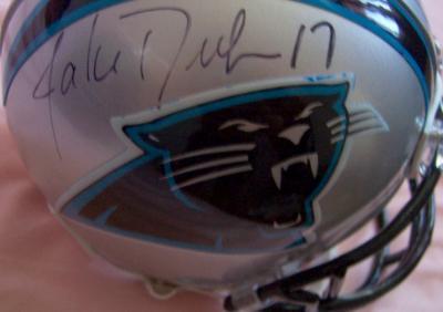 Jake Delhomme autographed Carolina Panthers mini helmet