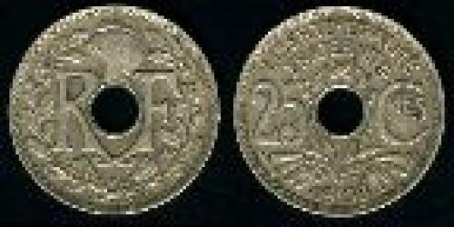 25 centimes; Year: 1938-1940; (km 867b)