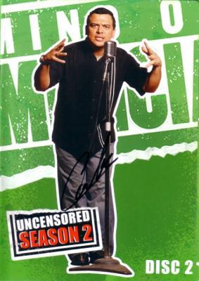 Carlos Mencia autographed Mind of Mencia DVD insert