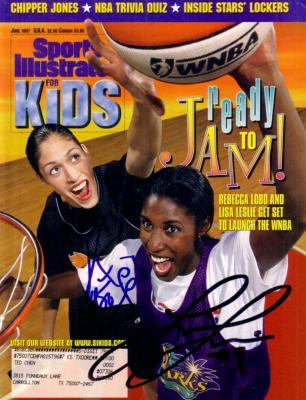 Lisa Leslie & Rebecca Lobo autographed 1997 Sports Illustrated for Kids magazine