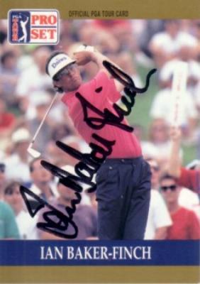 Ian Baker-Finch autographed 1990 Pro Set golf card