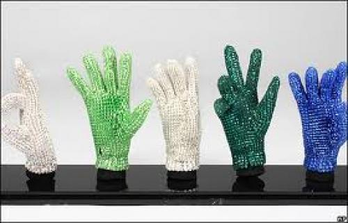 Memorabilia; Michael Jackson's signature crstyal glove