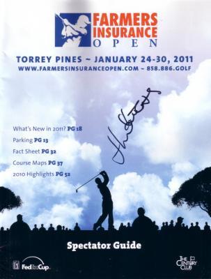 Jhonattan Vegas autographed 2011 Farmers Insurance Open program