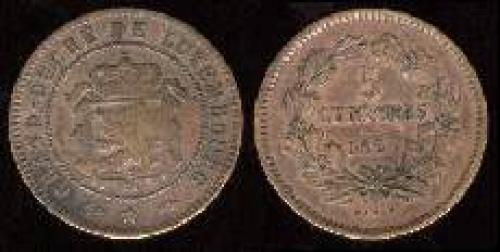 5 centimes 1855-1860 (km 22.2)