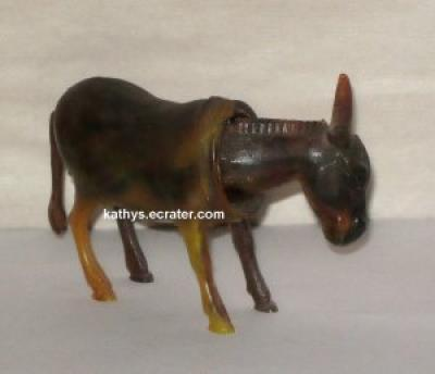 Celluloid Germany donkey bobble head and tail Figurine