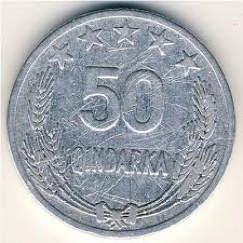 Coins; Albania, 50 qindarka, Year:1964