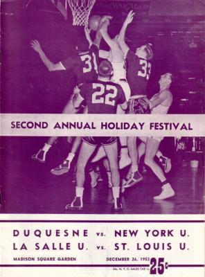 1953 Holiday Festival college basketball program (Tom Gola)