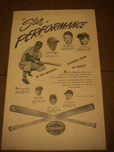 Original Louisville Slugger Poster
