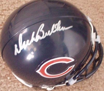 Dick Butkus autographed Chicago Bears mini helmet