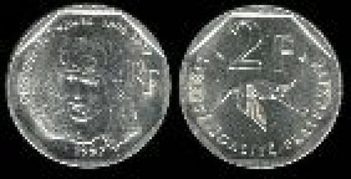 2 francs; Year: 1997; (km 1187); Guynemer