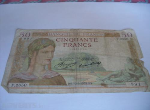 France banknotes-50 francs-1937/40
