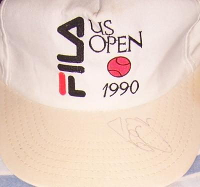 Gabriela Sabatini autographed 1990 US Open tennis cap or hat