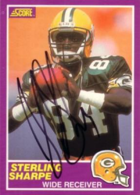 Sterling Sharpe autographed Green Bay Packers 1989 Score Rookie Card