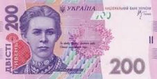 Banknotes; Ukraine's 200-Hryvnias note. Ukraine_200_front