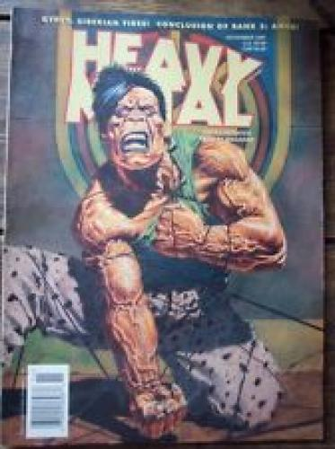 Heavy Metal Magazine November 1997 Vintage Hulk inspired Adult Fantasy Arts
